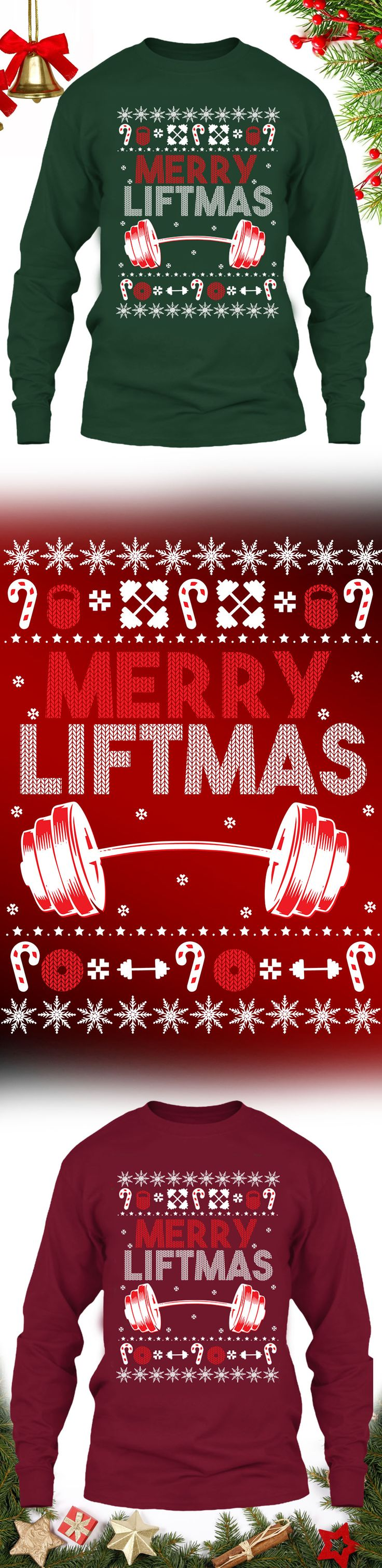 Weight Lifting Merryliftmas Sweater - Get this limited edition ugly Christmas Sweater just in time for the holidays! Buy 2 or more, save on shipping!