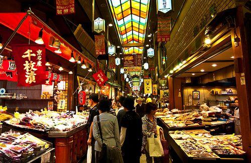 Nishiki Market, Kyoto, Japan.