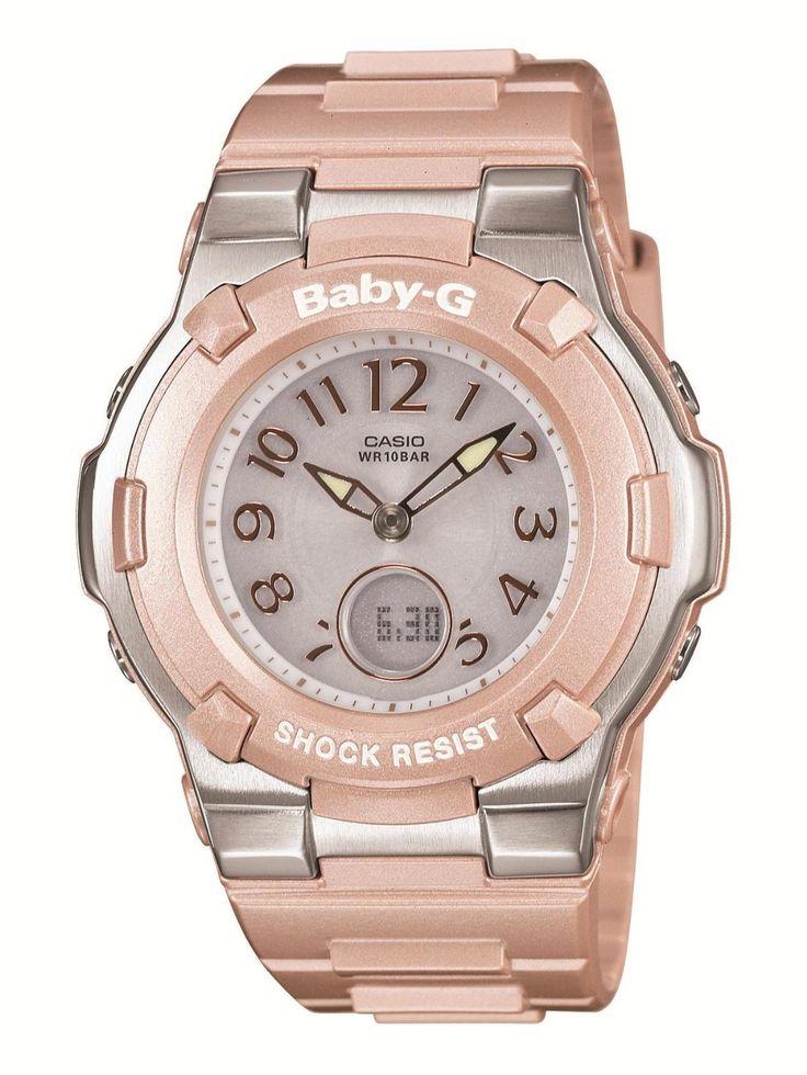 Casio Baby-G Shock Resist Lady's Solar Charged Watch - MULTIBAND 6 - Tripper - BGA-1100-4BJF ...