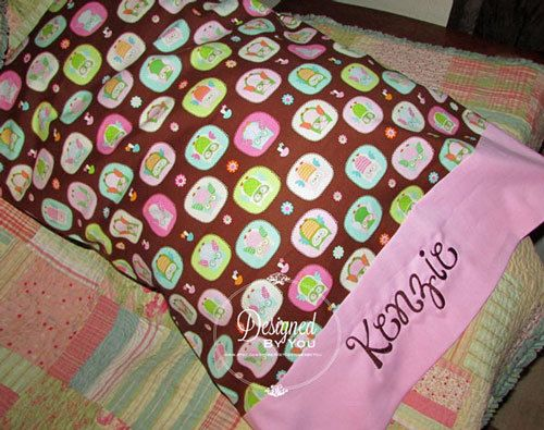 Personalized Embroidered Pillowcase by DBYDesignedByYou on Etsy, $18.00. Embroidered  GiftsEmbroidered Pillowcases