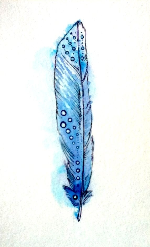Single Feather. Ink, watercolor, and gouache.