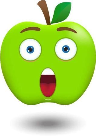 Elmalar Duyu Grafiği (Hazır Kalıp)