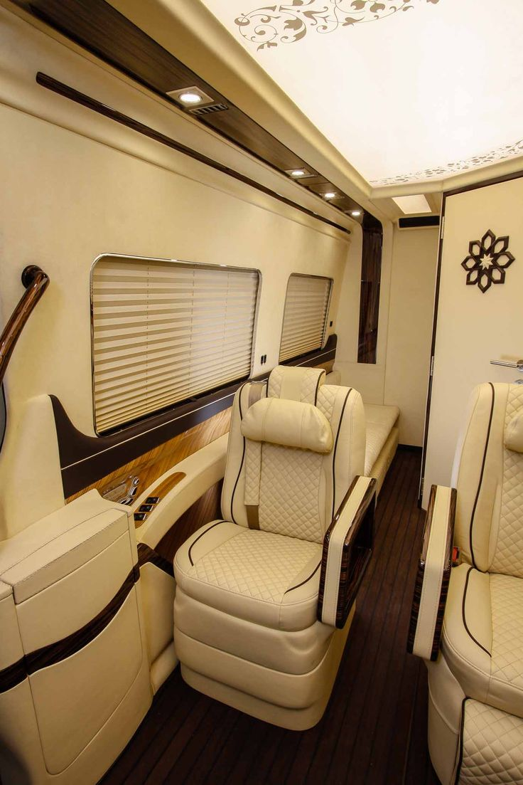 Luxury vip van by klassen manufacture fine leather stitched in best design led skylight benz sprinterskylightsmercedes