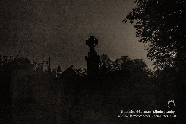 Absolutely pitch black in Blackburn Cemetery by AMANDA NORMAN.   Cemetery photography can have many different interpretations from one image; some people would see the scary and haunting side of this image, whilst I see a peaceful and moon-lit resting ground.