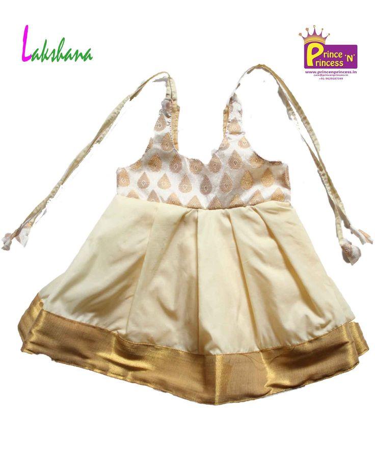 kerala type New Born lakshana frock .. for more pattu pavadai langa visit our website www.princenprincess.in