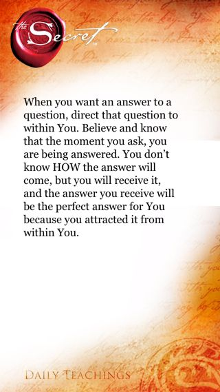 The Secret ~ Law of Attraction ❤ SP