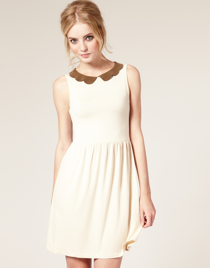 Scalloped collar creamy goodness and only $24!