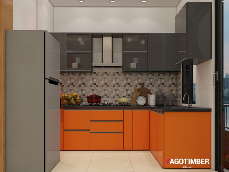 Get L Shaped Modular Kitchen Interior Design Ideas In Delhi NCR At  Yagotimber. Modern L Shaped Kitchen Cabinet Designers Online In Delhi,  Gurgaon, Noida, ...