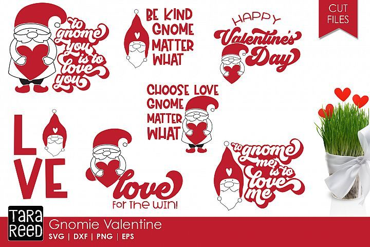 Gnomie Valentine - Gnome SVG and Cut Files for Crafters