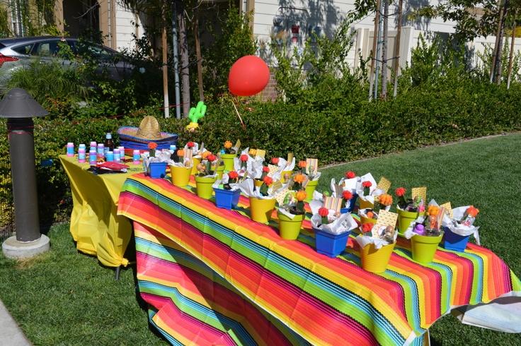 Fiesta Party Favors Mini Patron Cacti Bubbles Chili Pepper