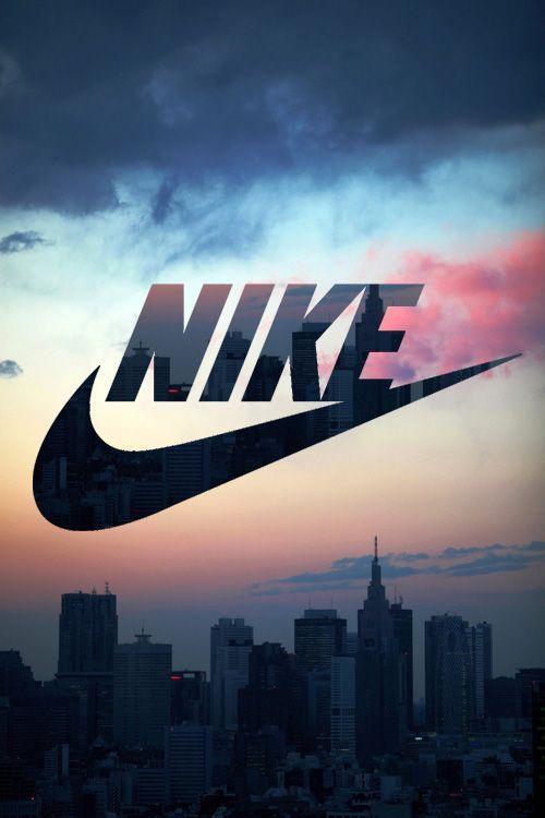 Fond d'écran Nike fond immeubles au coucher du soleil