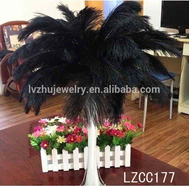 Plume d'autruche plumes lzv024 centre de table de mariage