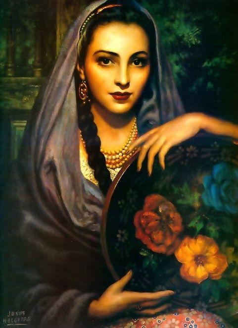 Michoacana, by legendary Mexican painter, Jesús Helguera [1912-1971]