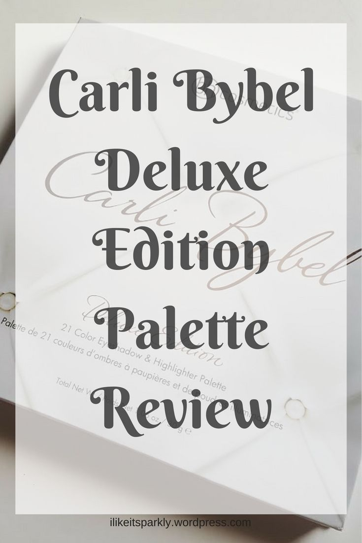 I have reviewed the Carli Bybel Deluxe Edition Palette on my blog today!