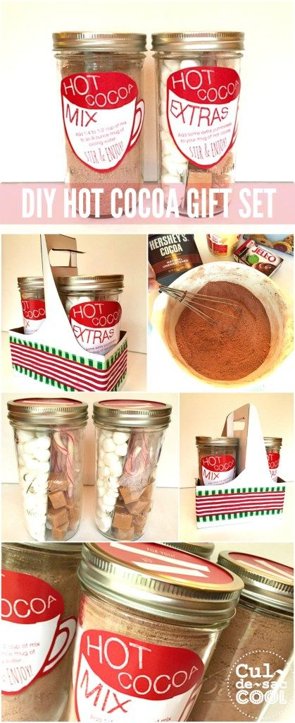 DIY Hot Cocoa Gift Set Collage