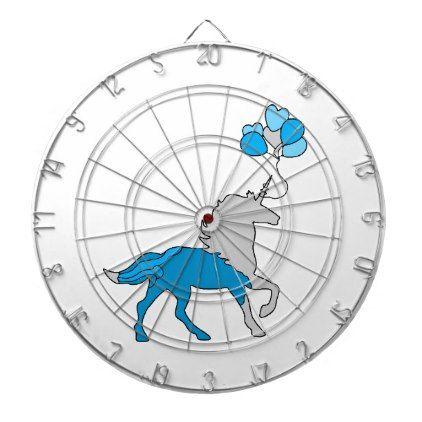Unicorn Dartboard - artists unique special customize presents