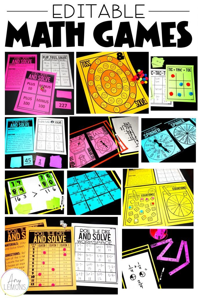 Teachers Can Create Fun Math Games At Any Grade Level With These