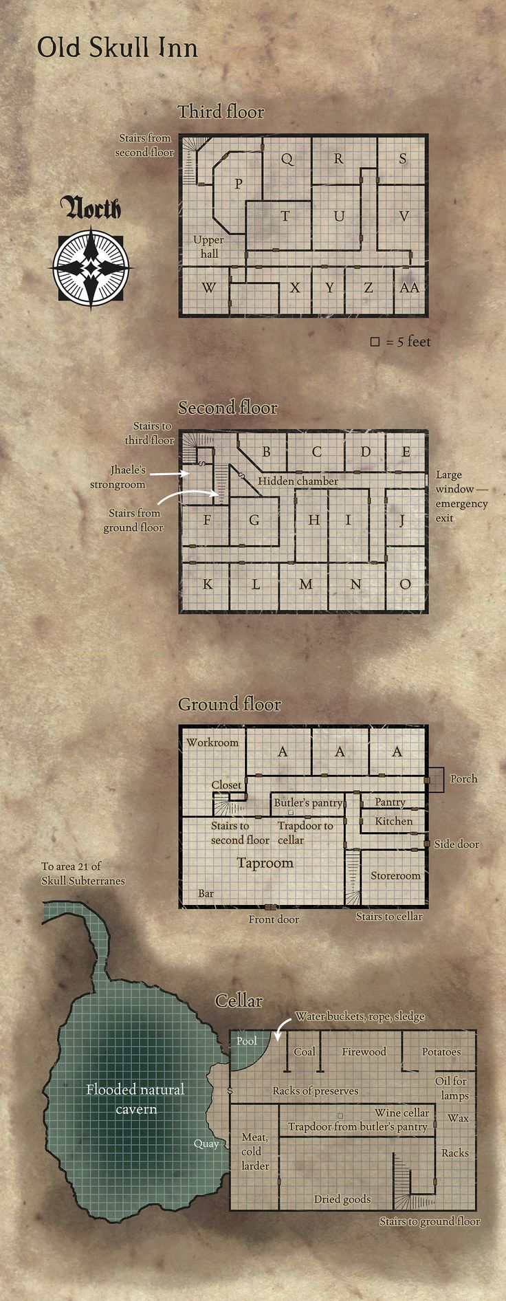 Floorplan of an inn