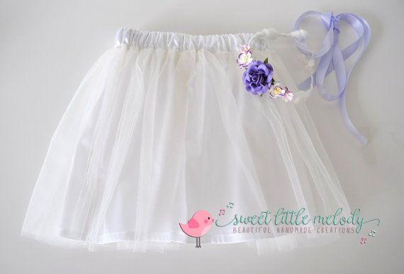White Tutu Ballerina Skirt White Tutu Skirt by SweetLittleMelody