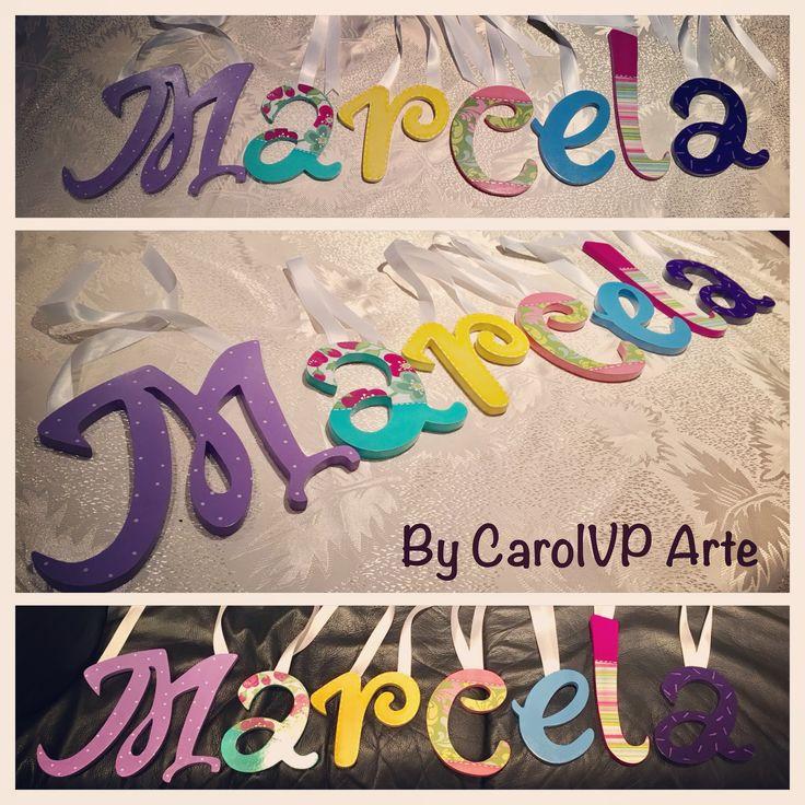 Nombre para el cuarto de tu niña by CarolVP Arte