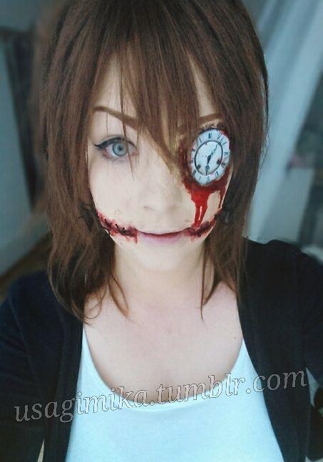 CLockwork creepypasta cosplay makeup diy how to