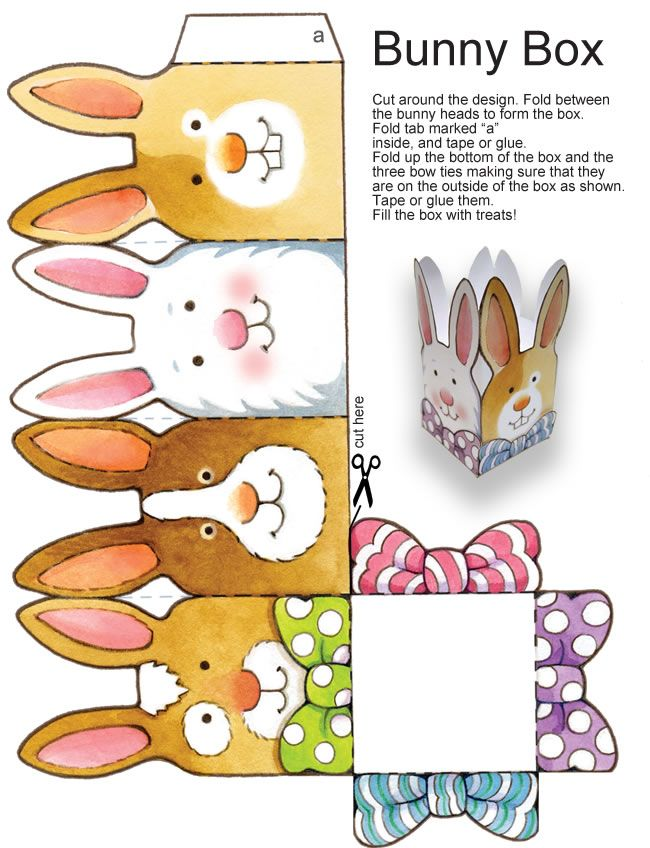 FREE printable Easter bunny box