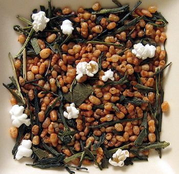 Genmaicha! It's green tea with rice! So smooth and delicious - perfect with, or right after, dinner :)