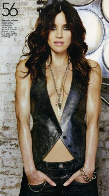 I'm sorry but no female has breasts that high on their chest..- Amitie. Rachel Shelley as Helena in The L Word
