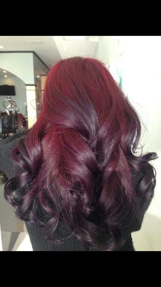 Color Ombre I Used Pravana Vivids Wild Orchid With Red On