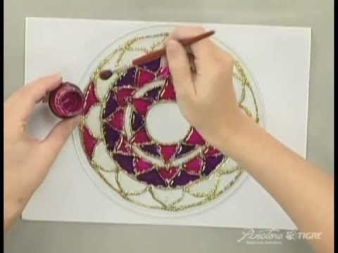 ▶ Passo a Passo Pintura em Vidro Mandala Pinctore Tigre - YouTube