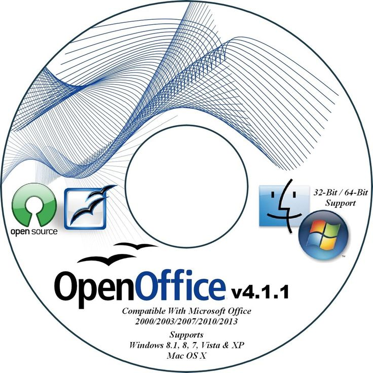 NEW 2015 OPEN OFFICE SUITE CD FOR MICROSOFT WINDOWS XP VISTA 7 8 8.1 PC & MAC OS #OpenOffice