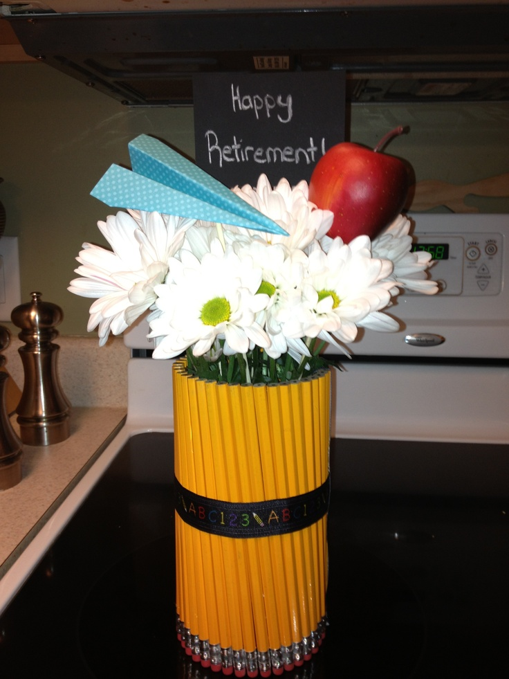 Teacher retirement gift centerpiece entertaining