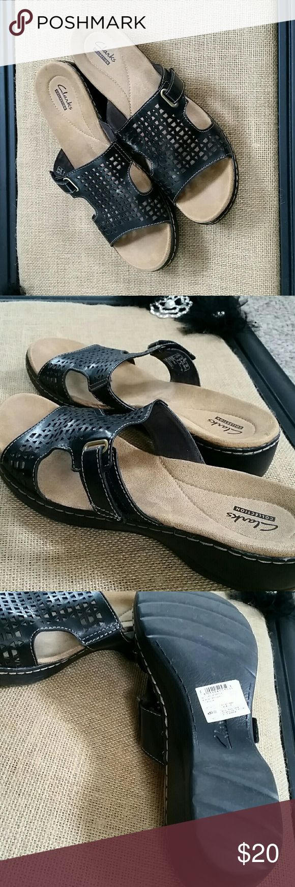 Clarks Sandals Like New Clarks, worn once  Adjustable velcro closure on side Clarks Shoes Sandals