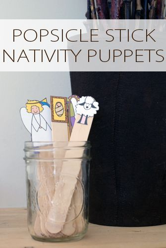 PRINT AND MAKE!!!! 101 Days of Christmas: Popsicle Stick Nativity Puppets