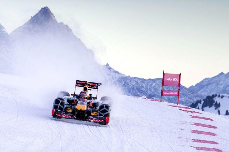 GALERIE: Tomu neuvěříte: Formule 1 se nebojí sněhu, řádí na sjezdovce v Alpách (videa) | FOTO 32 | auto.cz