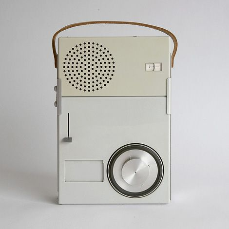 Braun TP1  portable transistor radio and phonograph (1959) by Dieter Rams