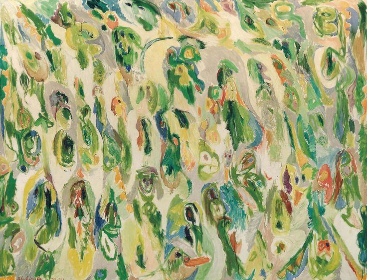 Pierre Alechinsky (Belgium b. 1927)Une foule de petits sujets - A Crowd of Small Subjects (1962)oil o canvas 200 x 260cm