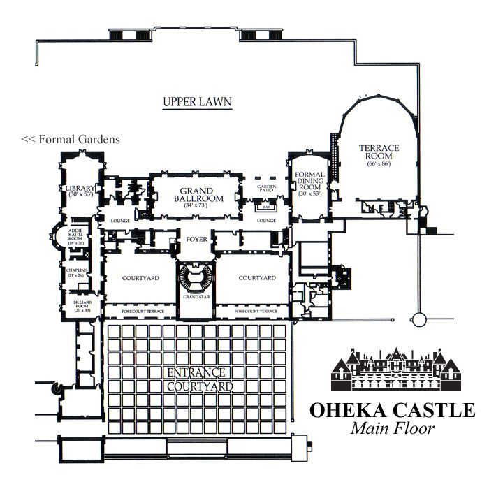 Oheka Castle Ground Plan The Great Gatsby