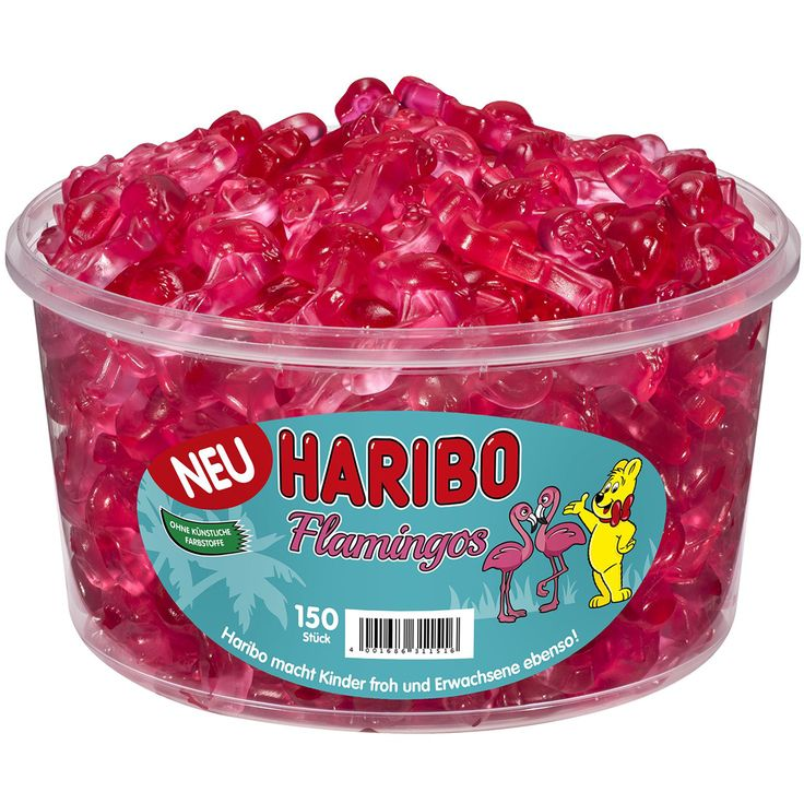 TheEuroStore24 - -in USA- HARIBO Flamingos - XXL Tub