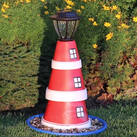 Signs that You Love the Beach Flower Pot Lighthouse