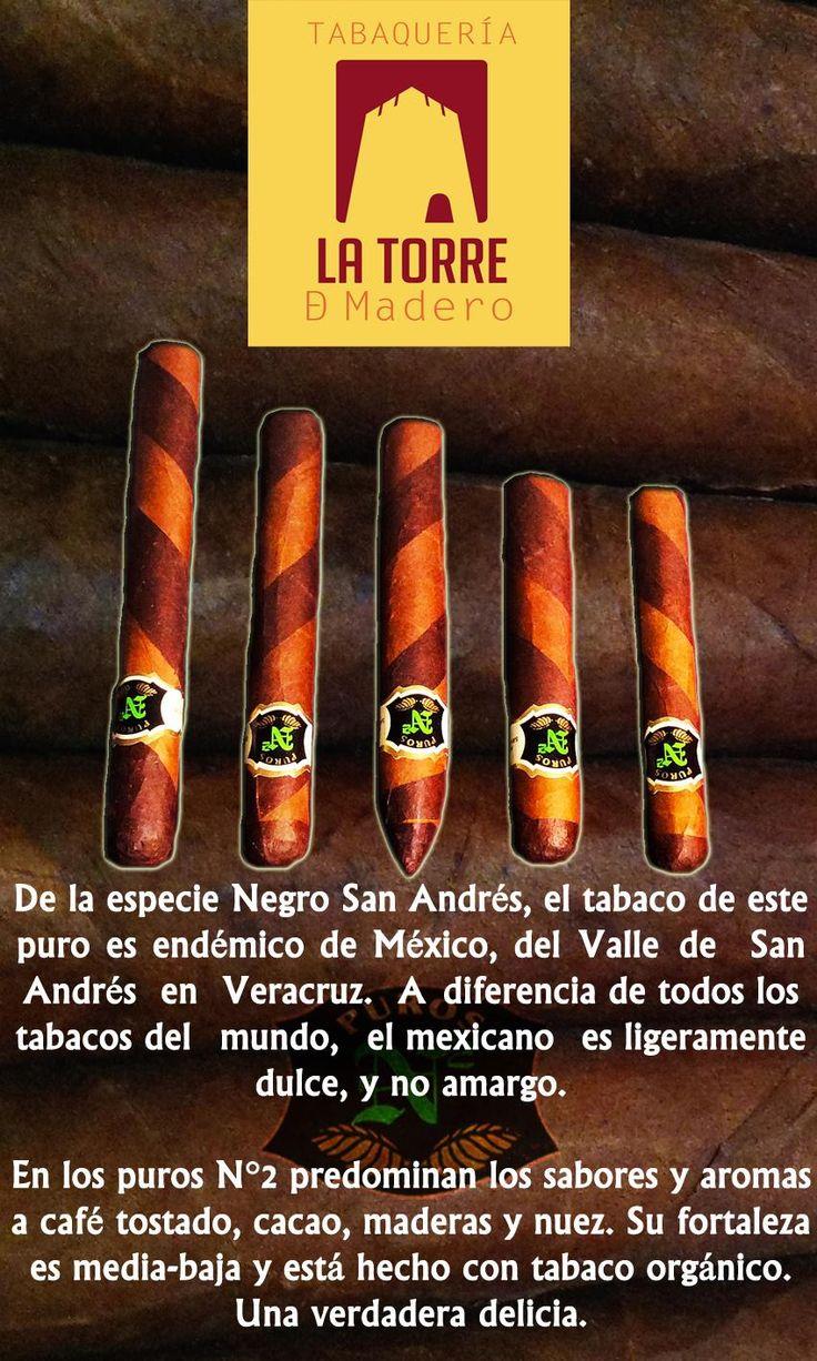 Tabaco Negro San Andrés, endémico de #Veracruz; algo dulce con notas de tostado, cacao y nuez