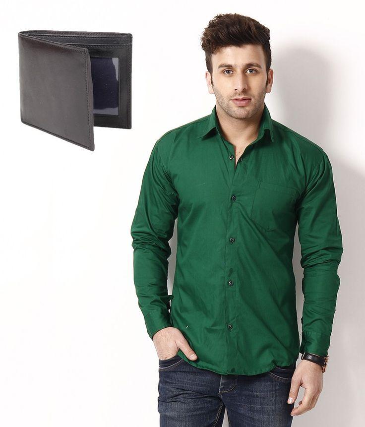 Mens Green Shirt Custom Shirt