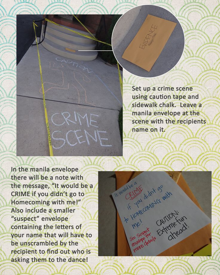122 best prom creative ways to askanswer your date images on the classic crime scene prom ask will never ccuart Images