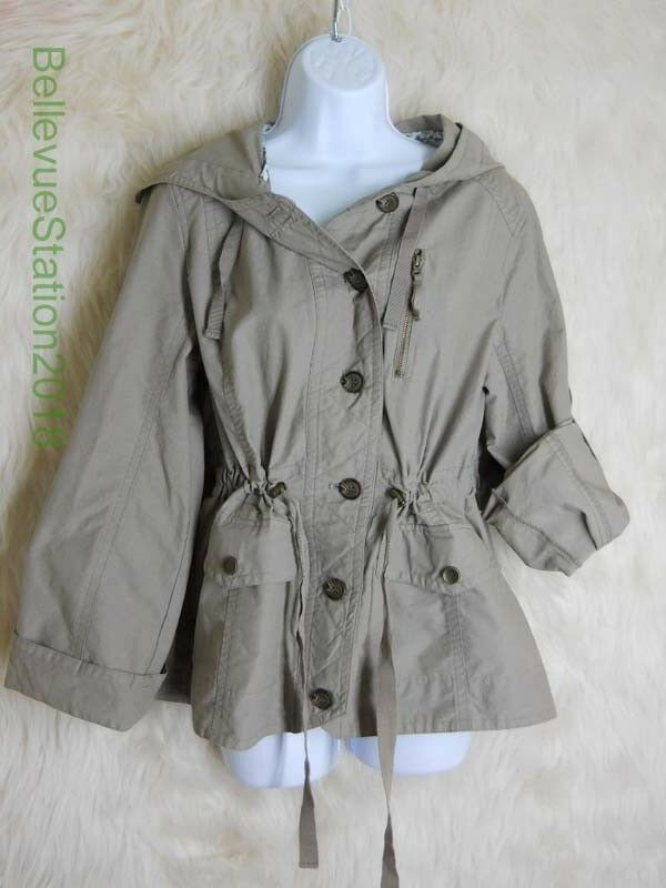 Ana Jacket Size Medium Khaki Lightweight Button Front Rolled Sleeves   fashion  clothing  shoes  accessories  womensclothing  coatsjacketsvests (ebay  link) 7cb76140b