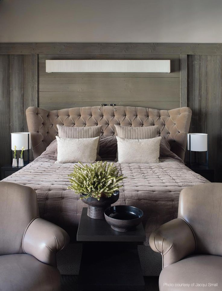 Ski Chalet by @kellyhoppen in France. Kelly Hoppen Master Bedroom Decor in France. Master Bedroom decoration, nightstand, luxury furniture, exclusive design. For more design news: http://www.bocadolobo.com/en/news-and-events