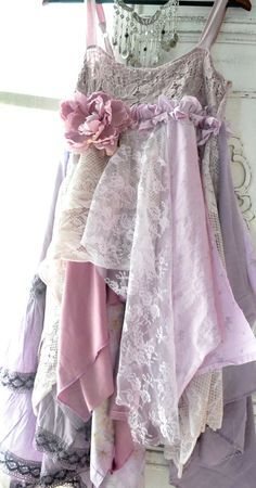 Upcycled Petticoat - tiered tattered lace silk cotton bohemia. - Google Search