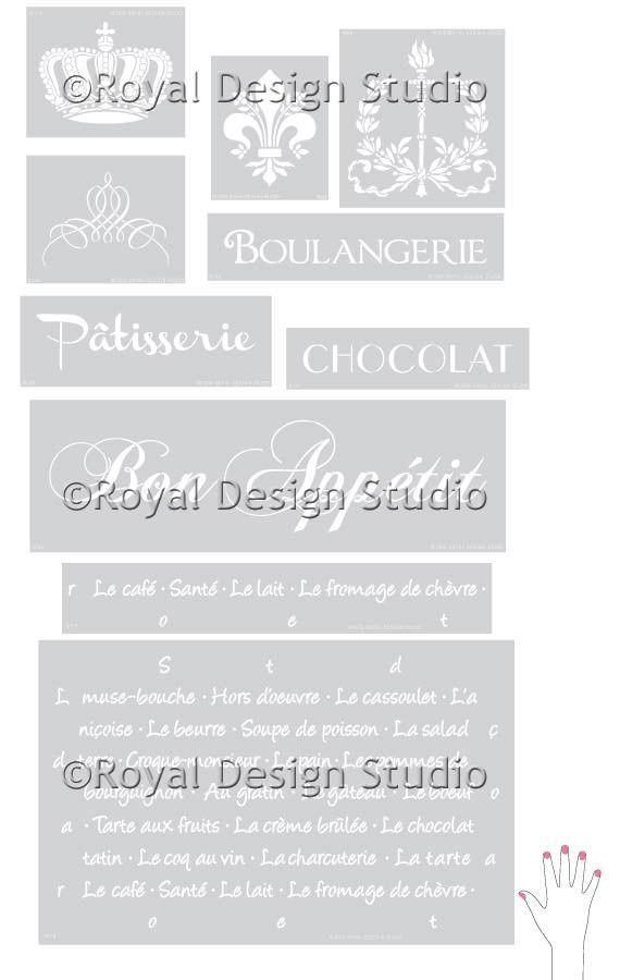 Cafe Royale Lettering Stencil Set | Royal Design Studio