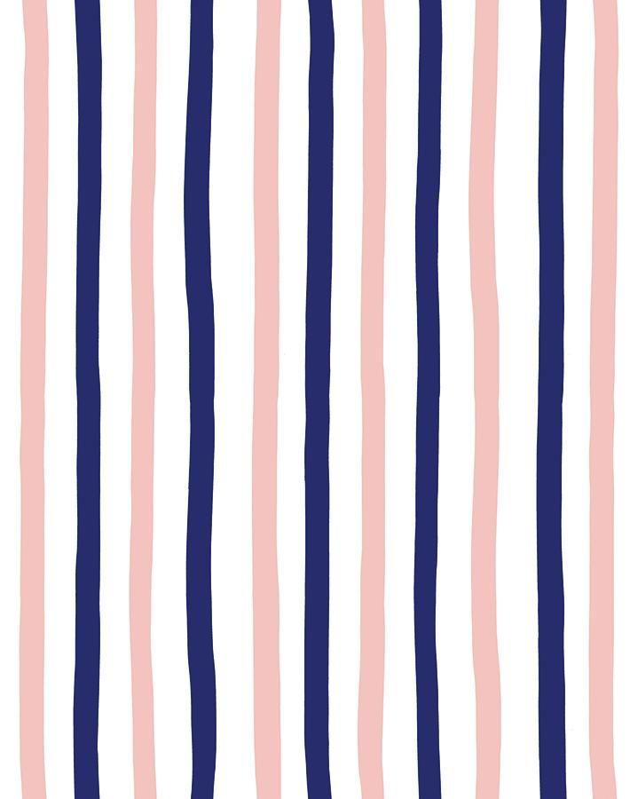 Stripes Removable Wallpaper Navy in 2020 Stripe