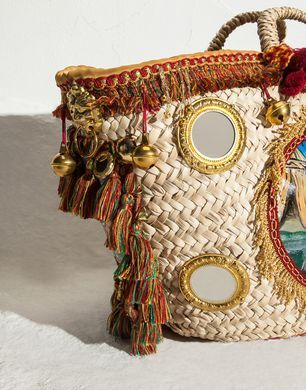 D&G ...La Coffa :) #coffasiciliana coffa, borsa in palma nana decorata con nappine e pom pom colorati #handmade #diy #idee #fattoamano #sicilia