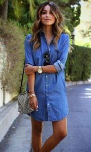 Button Sexy Casual Jeans Dress